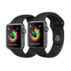 Apple Watch Series 3 GPS 38mm Space Gray Aluminum Case with Black Sport Band – MQKV2