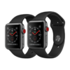 Apple Watch Series 3 LTE 42mm Space Gray Aluminum Case with Black Sport Band – MQK22